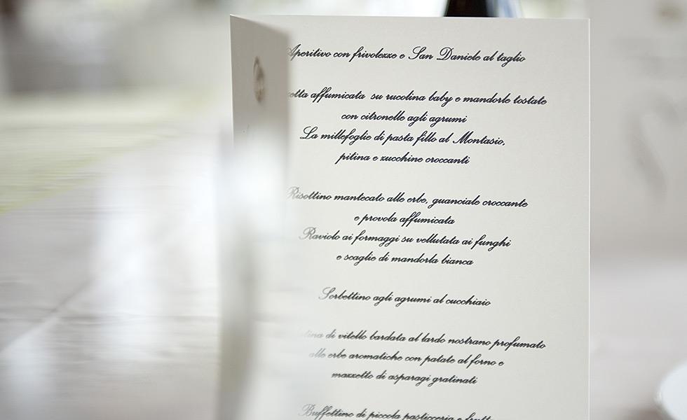 Favoloso Menu per Matrimonio, Menu di Nozze a Tavola | Il Cecchini SK35